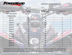 PowerMadd ATV CONTINGENCY 2018-2019