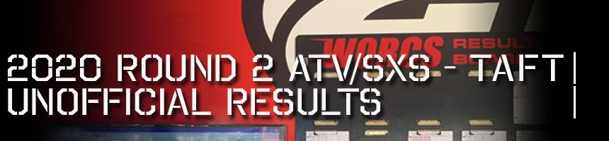 2020 Round 2 ATV SXS Unofficial Results Board