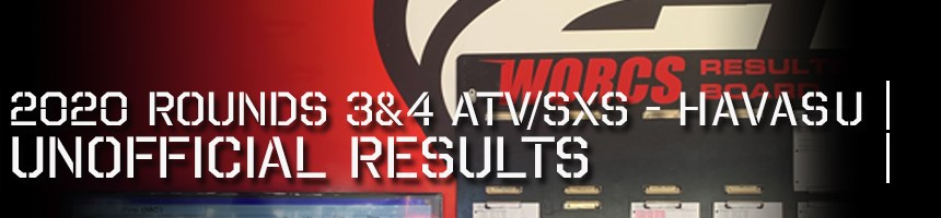 2020 Rounds 3 4 ATV SXS Unofficial Results Board