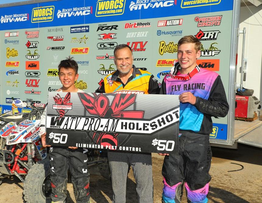 Round 8 Holeshot Winners - Brian Jackson & Kenny Sanford - Eliminator Pest Control