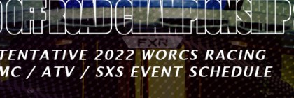 2022 MC ATV SXS Race Schedule