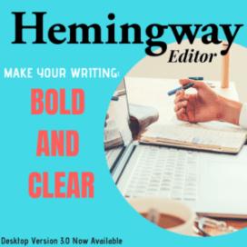 Buy Hemmingway Editor Writing Software Here