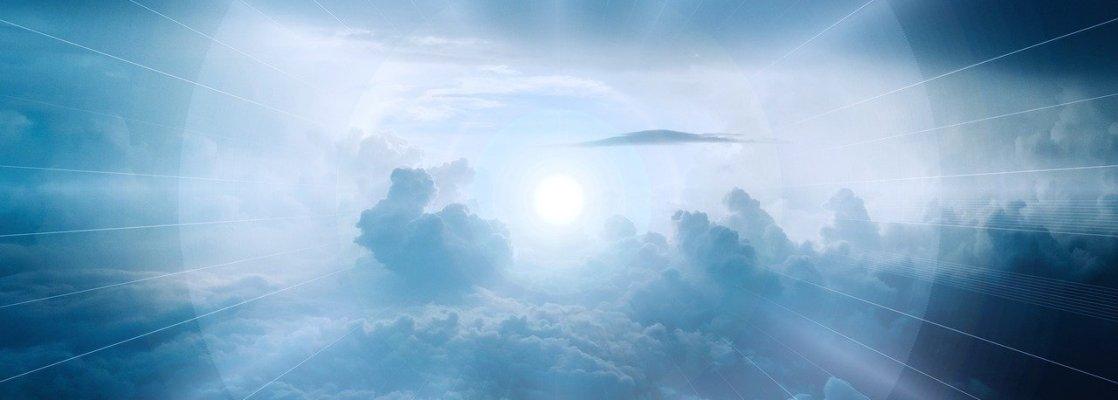clouds, sky, light