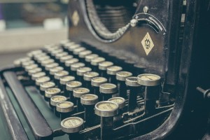 retro typewriter image