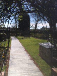 Memorial garden at Old Hartley