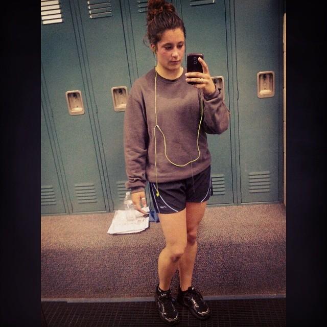 post workout selfie