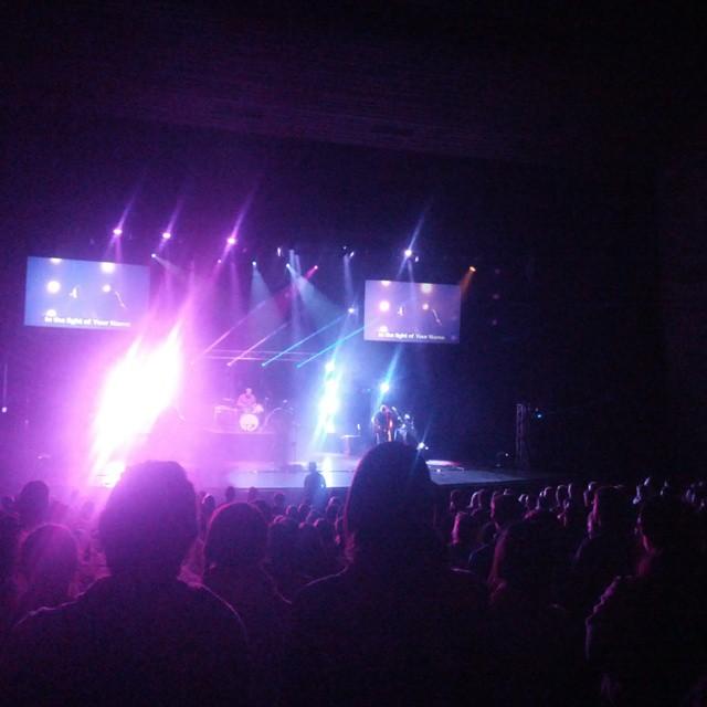 concert celebration with lights