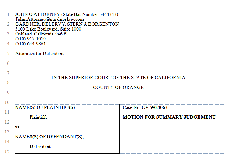 california legal calpleadings us district courts. printable ...