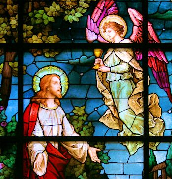 An angel comforted Jesus in Gethsemane