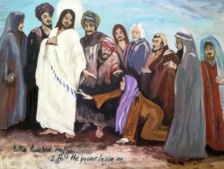To Touch the Hem of His Cloak - art by Sherry Phillips