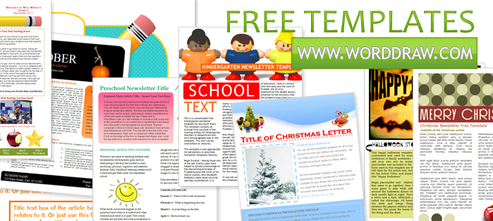 worddraw com free halloween newsletter templates. bulletin ...