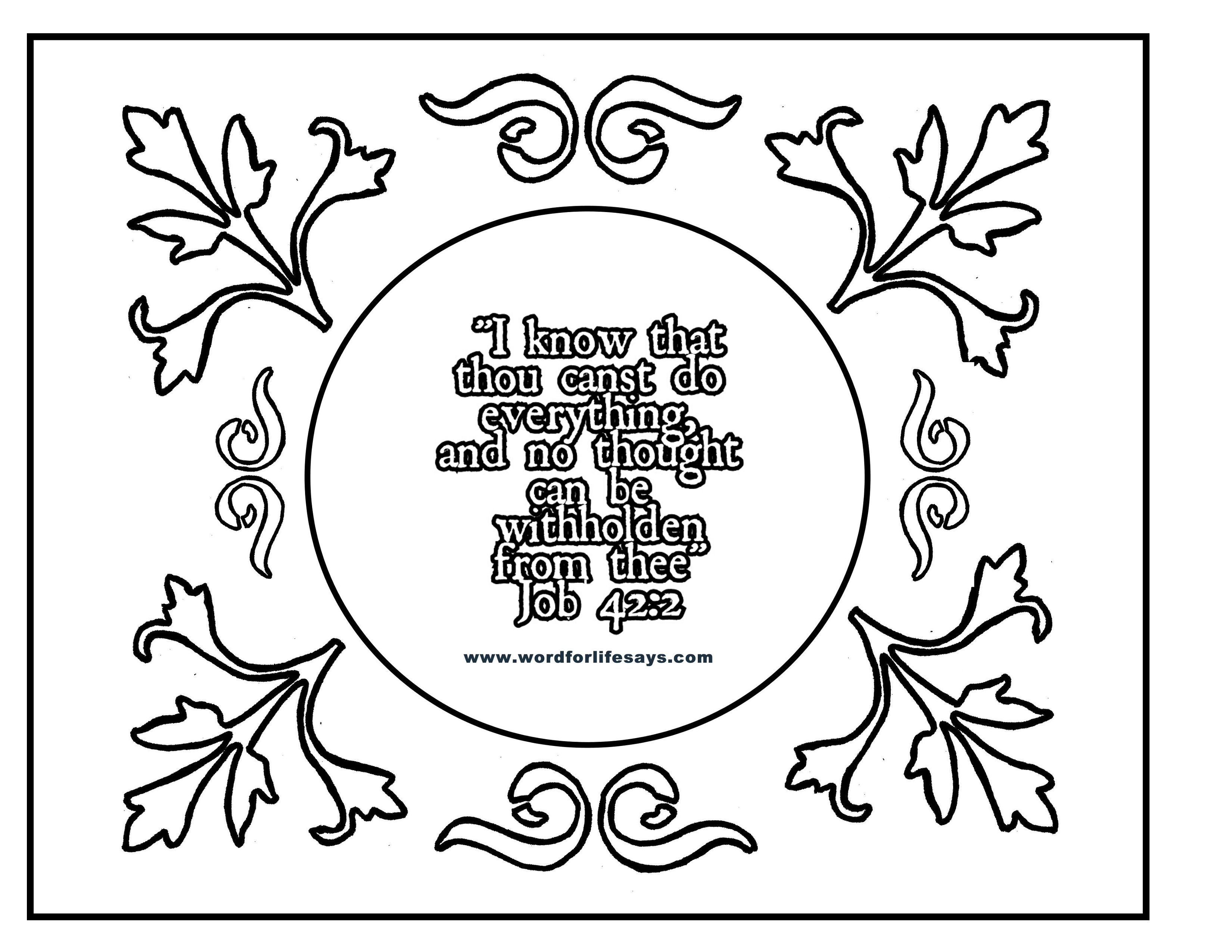 Obey Gods Word Coloring Page Coloring Pages