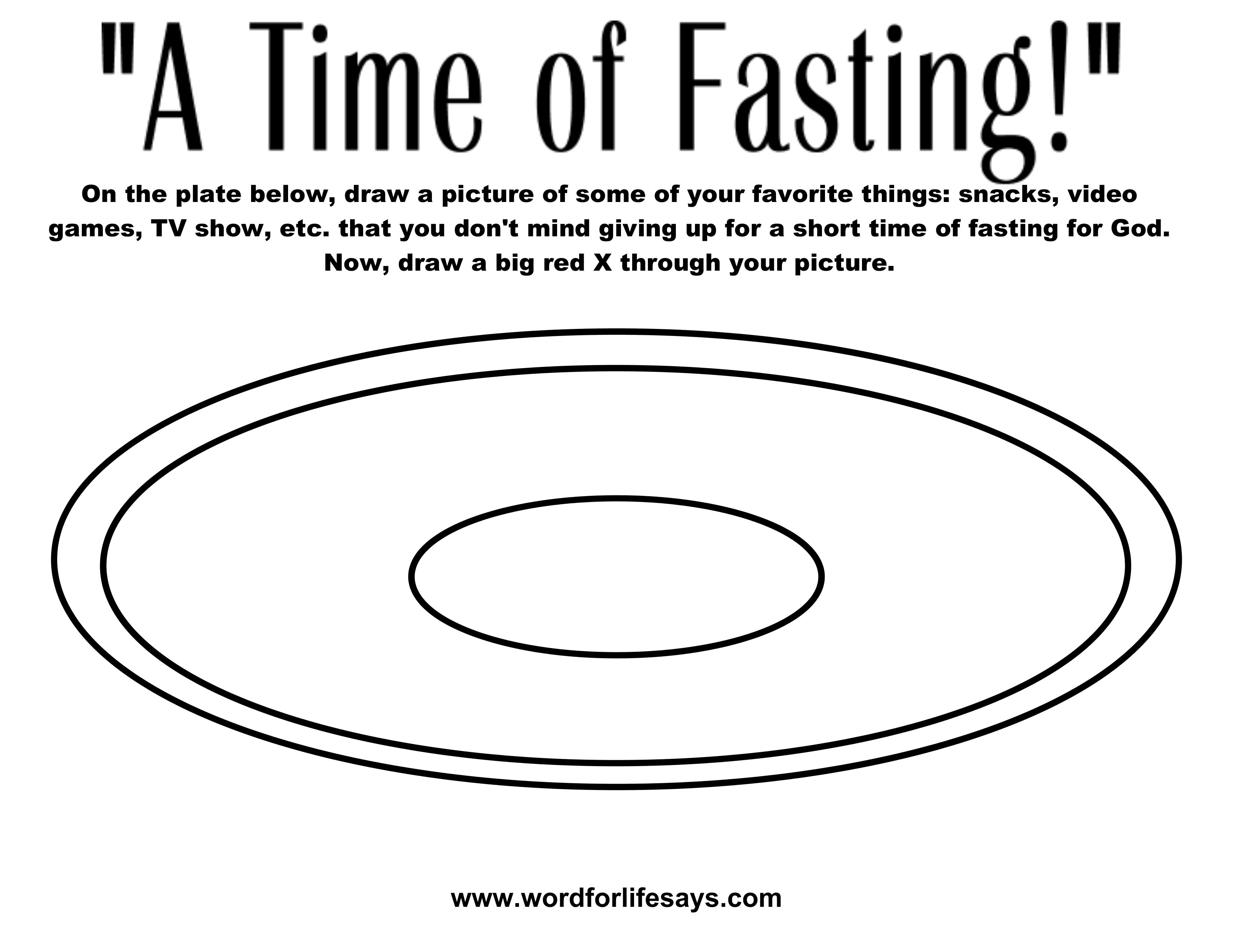 Fasting And Prayer Sheets Coloring Pages