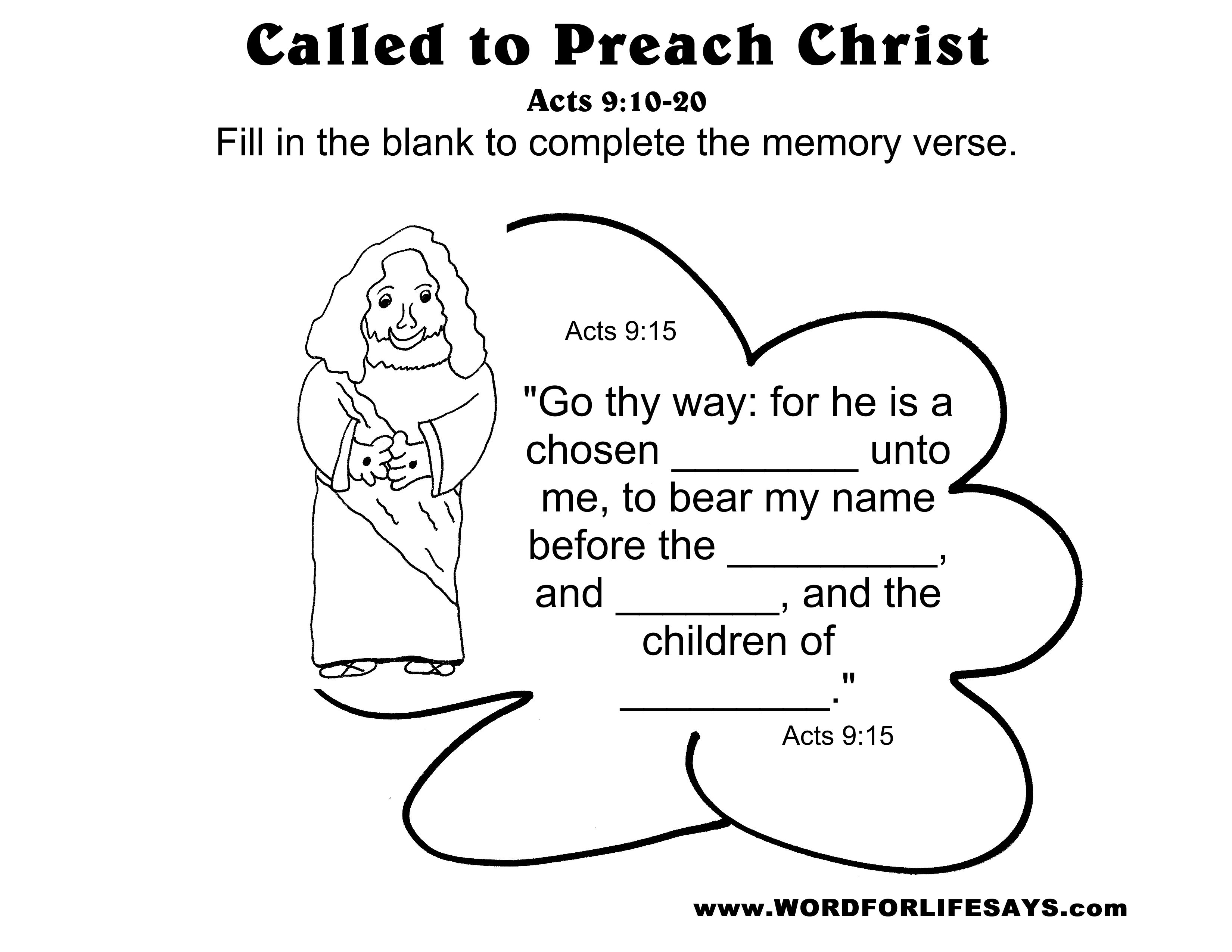 Called To Preach Christ