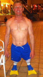 Jason in swim feet
