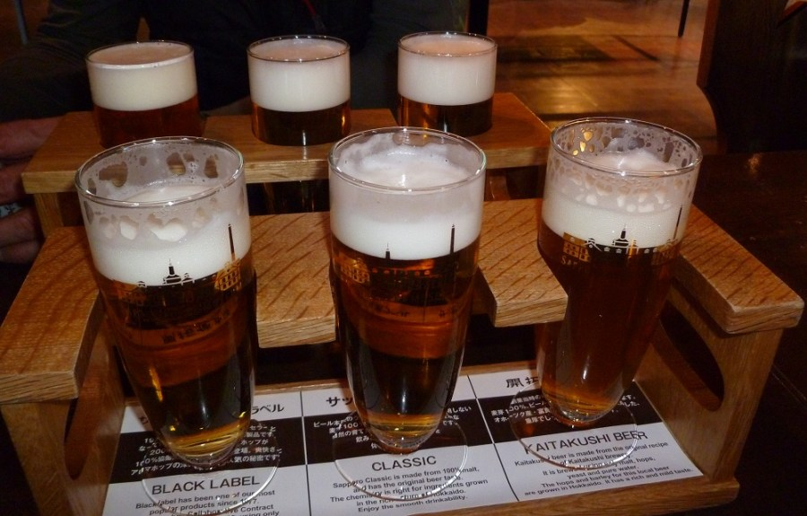 Beer tasting at Sapporo Beer Museum