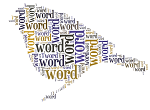 Words in the shape of a bird
