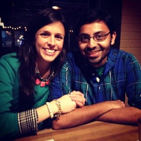 Rahul and I celebrating St. Patrick's with lots of green.
