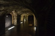 Inside Charlie Kelly's home, aka the champagne cellars at Moët & Chandon.