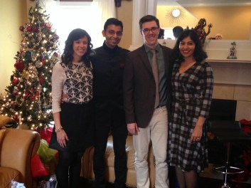 Me, Rahul, and future brother & sister in law.