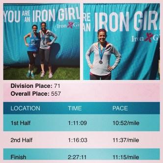 Iron Girl Half Marathon: Cassie and I are DEFINITELY Iron Girls!