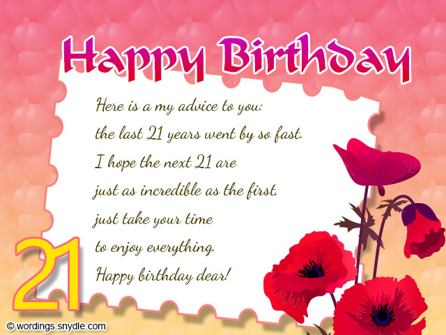 21st Birthday Card Messages For Best Friend – Friend Birthday Messages for Cards