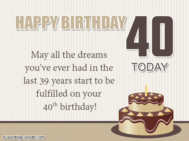 What To Write In A 40th Birthday Card Friend – Things to Write in a 40th Birthday Card