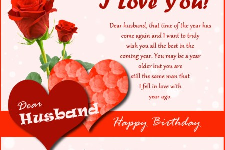 A Birthday Wishes I LOVE MY HUSBAND My Husband Has Made Me