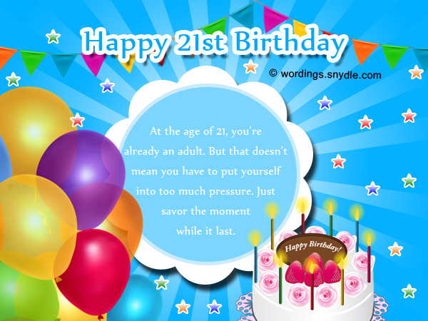 21st Birthday Card Messages For Best Friend – 21st Birthday Messages for Cards