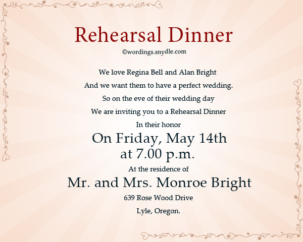 Invitations For Rehearsal Dinner Template Best Collection