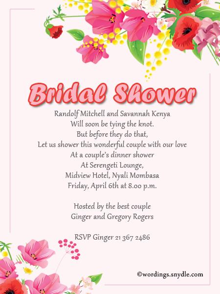 10 Bridal Shower Invitation Wordings