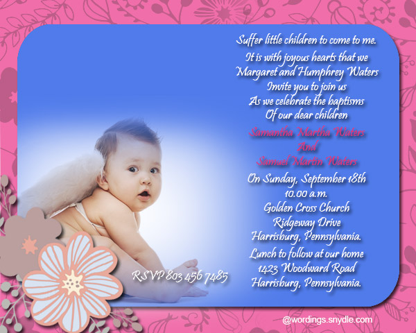 Baptism invitation cards sample of christening invitation card paperinvite stopboris