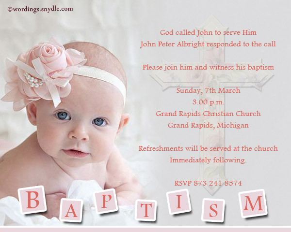Invitation Card Christening And First Birthday