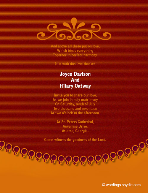 Wedding Invitation Wording Sles 04