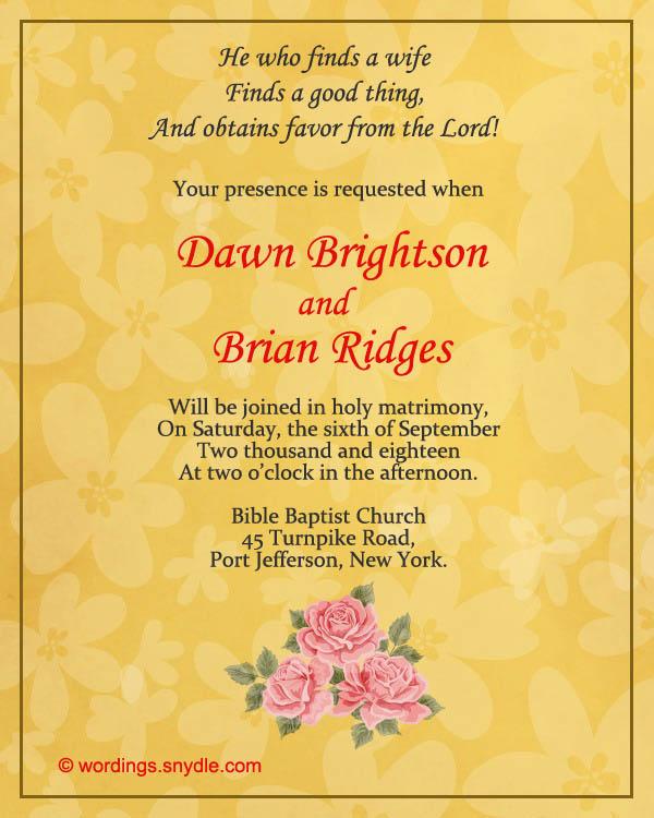 Wedding Announcement Etiquette Wording