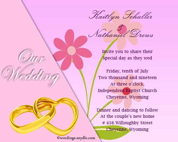 Wedding Invitation Cards Wordings Sle