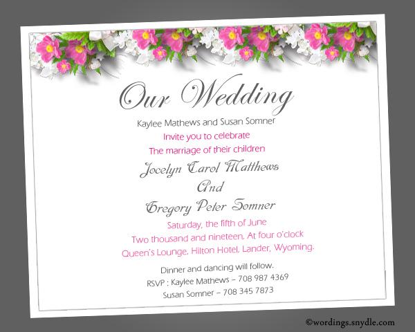 Formal Wedding Invitation Wording Examples Besttemplate