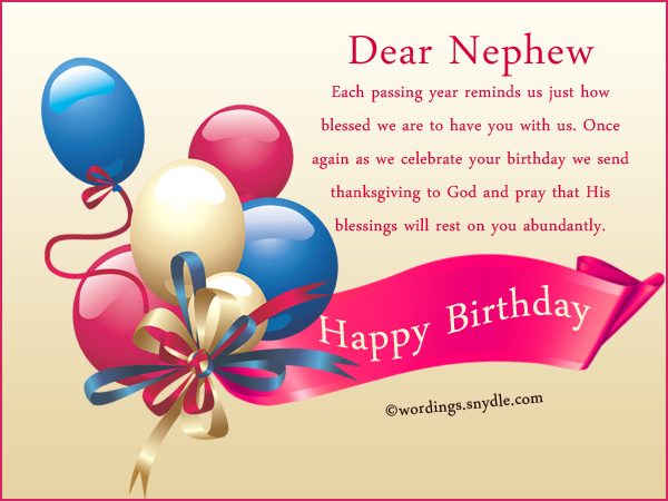Nephew Birthday Messages Happy Birthday Wishes For Nephew Wordings And Messages