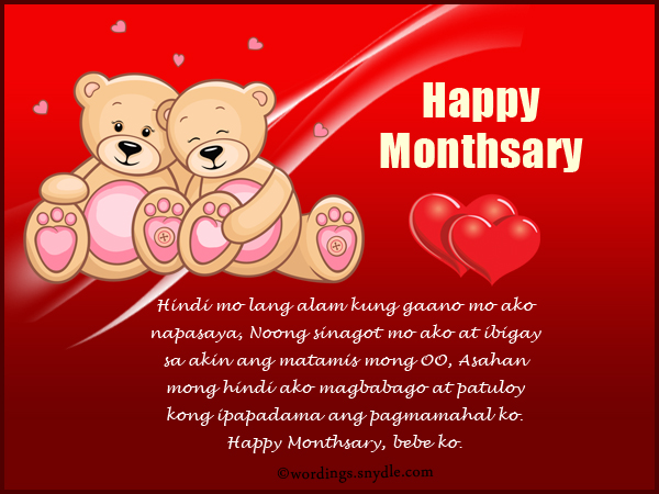 Monthsary Happy Message 5th
