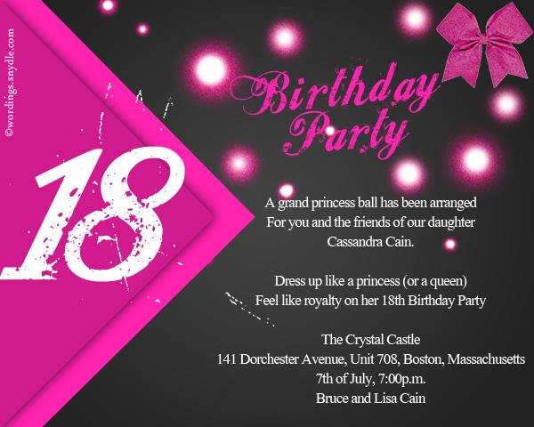 18 birthday invitation cards sample invitationjdi 18th birthday party invitation wording wordingessages stopboris Gallery