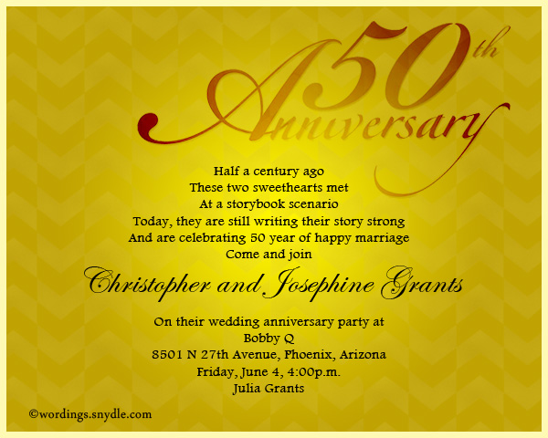 50th Wedding Anniversary Invitations Ideas Wedding Invitation Sample