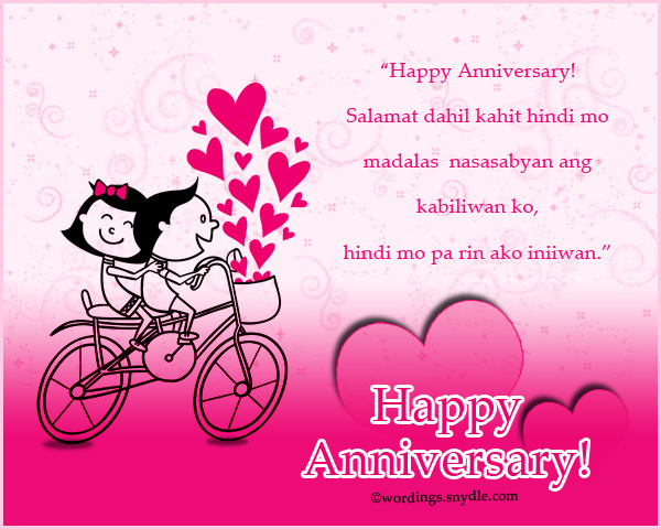Happy 1st Monthsary Message Tagalog