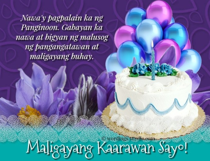 Happy Birthday Messages in Tagalog – Wordings and Messages