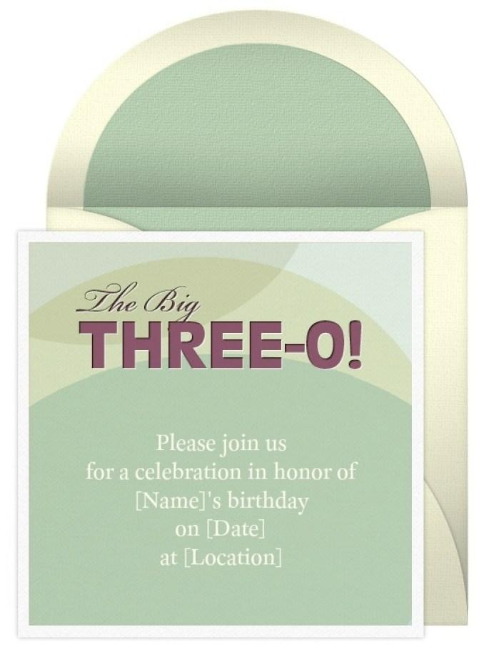 30th birthday invitations wording