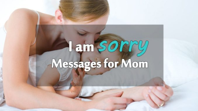 30 Sorry Messages for Female Parents