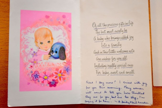 Simple and Easy Baby Card Message