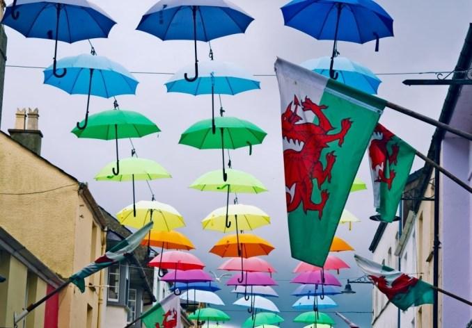 Umbrellas in Wales