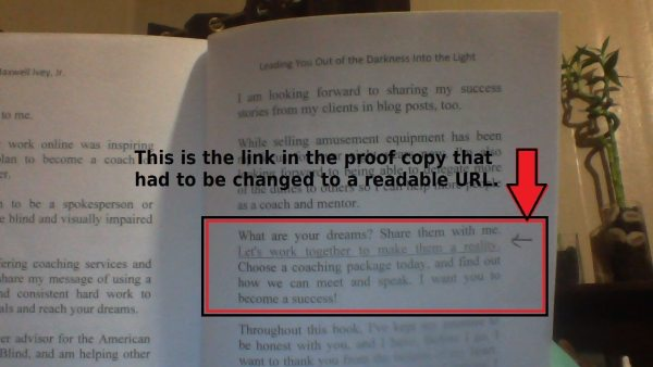 One of the pages of the book that shows an edit.
