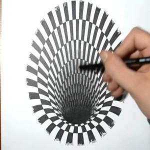How to draw a Hole - Anamorphic Illusion