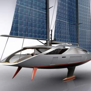 50 meters sailing yacht with Solar Sails